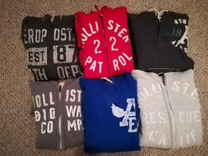 Brand name sweaters and hoodies