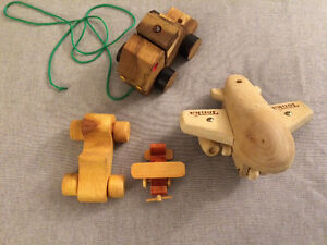 Wooden vehicles lot