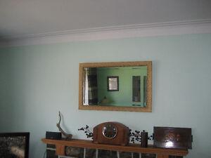 antique miroir dans son cadre en bois d'origine