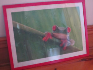 IKEA -Red Frame with Tropical Green Fog-MINT