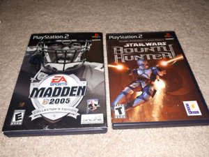 PS2 Madden 2005 Collectors Edition and Star Wars Bounty Hunter