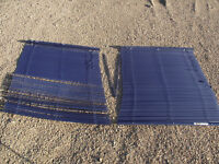 "2 Blue blinds - 37.5""X 44"" $10 for the pair"