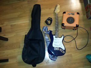 Child Size Electric Guitar with Amp, Cable, and Soft Case