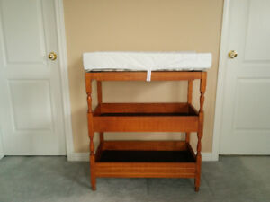 Beautifull crafted wood Baby Change station with Pad and shelves