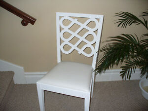 Lovely White accent chair