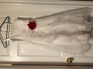 Flower Girl dress and head peice