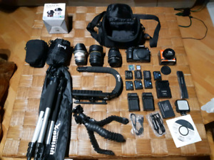 Panasonic Lumix g7 with 3 lenses and accessories