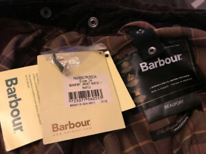 Barbour Beaufort Brown Size 34