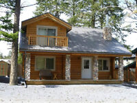 Cedar Log Home for Sale or Trade only 10 km from Radium Spr.