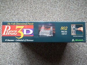 """WREBBIT-3D puzzle """"CATHEDRAL OF FLORENCE"""" 802 pieces London Ontario image 2"""