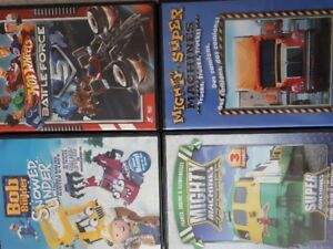 Lego, Bob the Builder and Mighty Machines DVDs