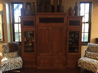 Traditional Solid Wood Ethan Allen 6 Piece Entertainment Unit