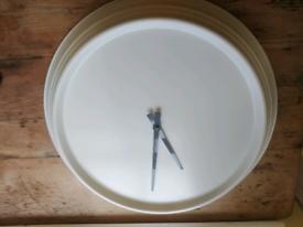 Gorgeous large (59cm) minimalist metal wall clock