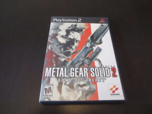 Metal Gear Solid 2 for PS2 in perfect condition