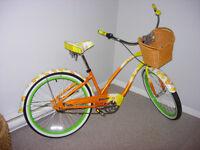 Electra Fashion Cruiser Bike - Daisy 3i Yellow Fade 3-Speed