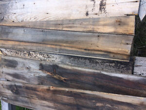 Barn boards of various sizes