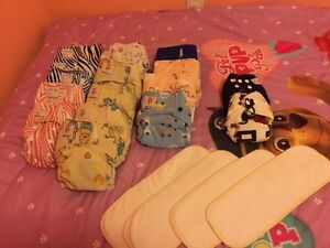 Cloth diapers brand new most never worn