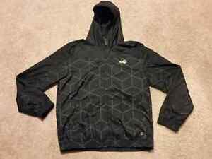 Like new black and gold men's large Puma light zip up jacket.