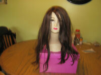 100% Human Hair Wig Chocolate Brown/Copper Highlights $140.00