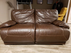 Leather Power Reclining Loveseat for sale