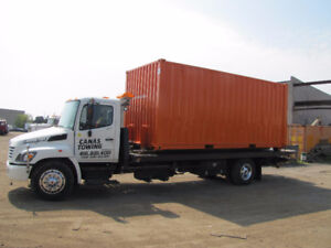 Tilt & Load; flatbed , equipment moving, containers, Forklift