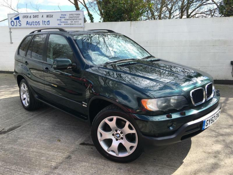 BMW 2002 X5 30 Diesel Automatic SUV 4x4 in Green  in Plymouth