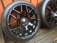 """VMR v710 mesh gloss black 18"""" alloys 5x112 Audi vw Mercedes"""