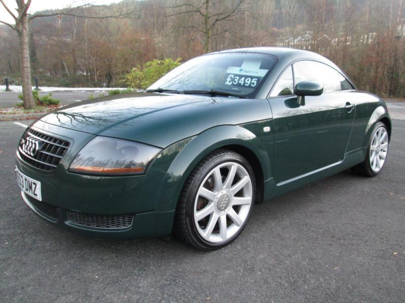 03 53 audi tt 1 8t quattro coupe 180bhp in met green with full leather in porth rhondda cynon. Black Bedroom Furniture Sets. Home Design Ideas