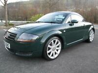 03/53 AUDI TT 1.8T QUATTRO COUPE 180BHP IN MET GREEN WITH FULL LEATHER