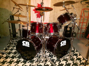 CB DOUBLE MATCHING BASS DRUMS SET FOR SALE!!