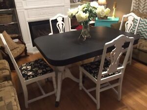 Vintage Solid Wood Table & Chair Set
