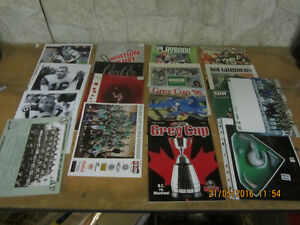 HUGE LOT SASKATCHEWAN ROUGHRIDER CFL MEMROBILIA