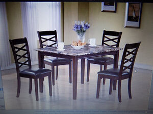 Dining Sets New 3 and 5 Pce Sets. Tables TAX INCL>Call 727-5344