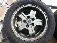 4, 15 in. Volvo wheels, off a 240 DL