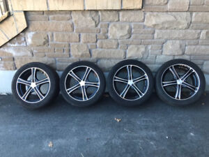 235/45R17 Michelin Primacy MXM4 on 10-point blacked out rims.