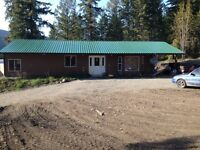 5 acres with rancher style house