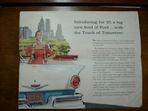 1957 Ford sales brochure Peterborough Peterborough Area image 3
