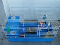 Cage - Large, For Small Animals, With Accessories,20(H)x17x40(L)
