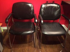 Hair washing and waiting room chairs
