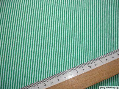 1 Lfm Jersey 2,65€/m² grün, weiß Baumwolle 150cm breit  CL36
