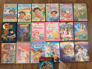 Kids DVD lot x19 - Dora, Care Bears, Scooby Doo, Etc.