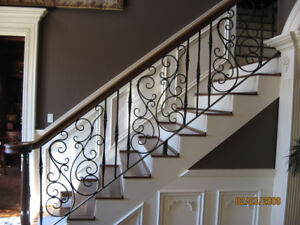 RED OAK STEPS MAPLE STEPS STAIR TREADS SPINDLES IRON ROD NEWEL