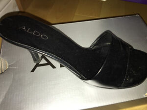 Aldo black leather