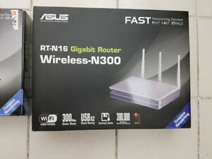 Asus RT-N16, N300 Gigabit Router, in package and mint condition