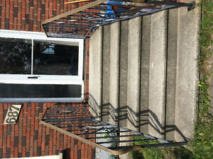 Free concrete stairs and railings