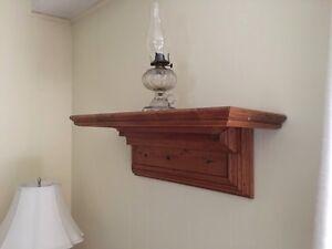 Antique Quebec Pine Clock Shelf