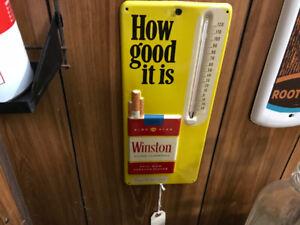 Winston cigarette thermometer