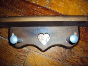 Small wooden heart shelf