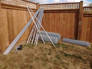 100 feet Galvanized chain link fencing plus Kawartha Lakes Peterborough Area image 1