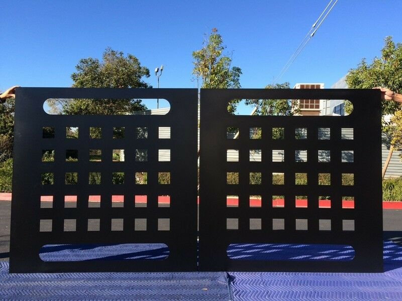 Iron Driveway Gate ,Modern drivewaY Steel gate,Garden Art 10 x 5 Made in USA